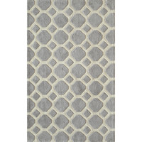 Hand-tufted Grey Beehive Nature Rug (2' x 3') | Overstock.com Shopping - The Best Deals on 3x5 - 4x6 Rugs