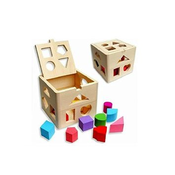 Toddler Educational Wooden Building Block Set