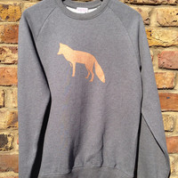 Foxy Sweatshirt - unisex low carbon, organic cotton, fairly traded