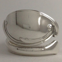 Size 9.5 Vintage Sterling Silver Spoon Ring