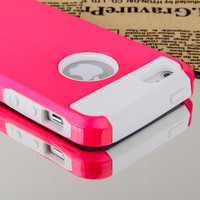 Hybrid Rugged Rubber Matte Hard Case Cover For iPhone 5 5th + Screen protector