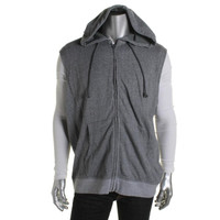 American Rag Mens Cotton Hooded Vest