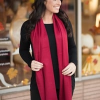 Classic Red Scarf