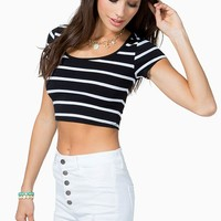 The Striped Crop Top
