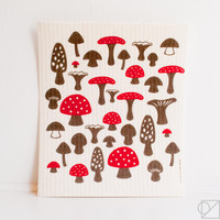 Swedish Dishcloth Mushrooms