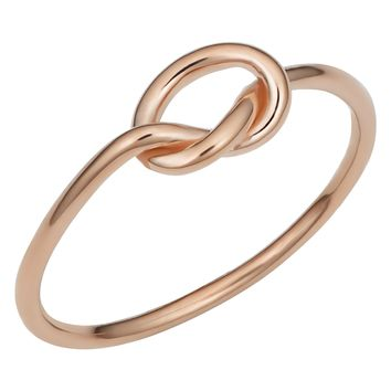 14k Rose Gold Love Knot Ring