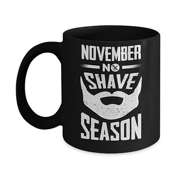 November No Shave Season Vintage Beard Mug