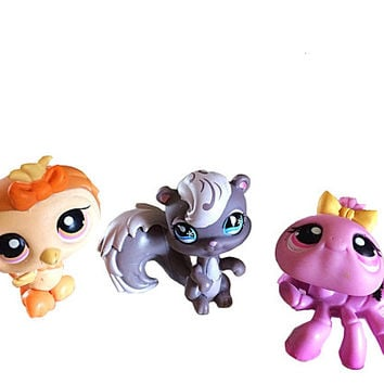 Littlest Pet Shop, Little Pet Owl, Pet Shop Set, LPS Racoon, Lps Spider, Lps Mouse, Lps Shorthaired Cat, Little Pets Easter, Lps On The Go