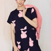 Lazy Oaf Pig Fly Babydoll Dress