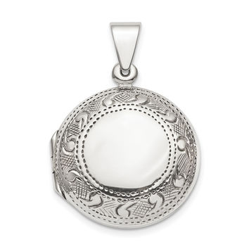 Sterling Silver Circle Locket QLS845
