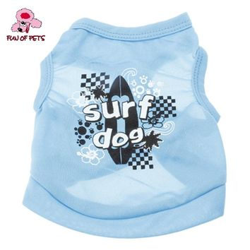 2017 Surfing Dog Pattern Terylene Vest for Dogs (XS-L) Cool Sports Holiday  Dog Clothes Dog Vest for Pets