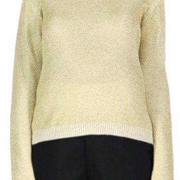 Gold Textured Sweater
