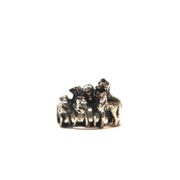 Wolf pack ring - photo#20