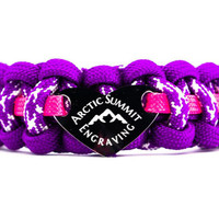 550 Paracord Bracelet with Engraved Stainless Steel Medium Heart ID Tag