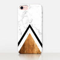Wood Marble Phone Case For-iPhone 7 Case-iPhone 7 Plus Case-iPhone SE Case-iPhone 6S case - iPhone 6 case-iPhone 5 Case Samsung S7