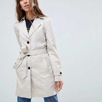 Vero Moda Tall Classic Mac Jacket at asos.com