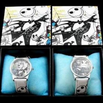 New 6 pcs Nightmare Before Christmas  Children Cartoon Quartz  Children Wristwatch Watches With Boxes Party Favors Gift Toy B-63