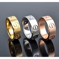 """Cartier"" Fashion Classic Women Men Cute Rhinestone Ring With Colorful Diamond Bracelet I"