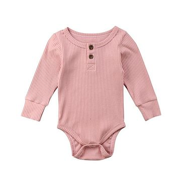 Newborn Infant Cute Cotton Long Sleeve Unisex Bebe Boy Girls Bodysuit Baby Clothing Leotard Body Tops