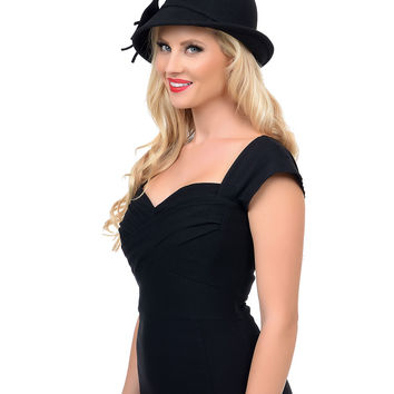 Black Wool Felt Bowler Hat