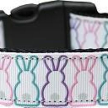 Bunny Tails Nylon Dog Collar Large