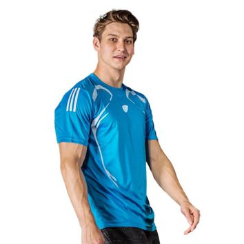 Sport Soild Colors Man Fitness Shirt T-shirt Running Breathable Running Quick-Drying Stretch Tops T-shirt Cool Gym Clothes