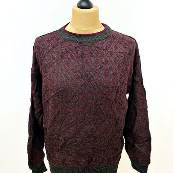 Vintage 80's Jantzen Classic Intricate Patternt Indie Jumper Sweater Medium
