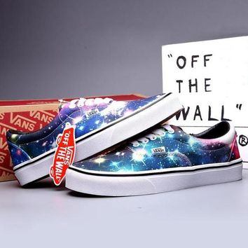 50c2afea9a VANS Canvas Old Skool Galaxy Print Flats Sneakers Sport Shoes