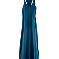 Racerback Sleeveless Maxi Chiffon Dress