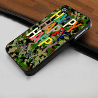 Duck Dynasty Happy Happy Happy Camo  - Hard Case Print for iPhone 4 / 4s case - iPhone 5 case - Black or White (Option Please)