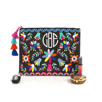 Monogrammed Mexicali Clutch | Marleylilly