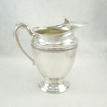Antique Silverplated Water Pitcher by Forbes Silver Company