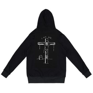 424 x Sean from Texas- Yeezus Embroidered Hoodie (Black)