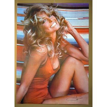 Famous TV and Movie Actress Farrah Poster 1976 Original Rolled in Sleeve 20x28 inch Home Decor Print