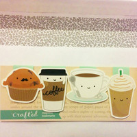 Coffee Set Mini Magnetic Bookmarks