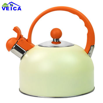 Chaleira Stainless Steel 2.5l Water Kettle Induction Cooker Camping Kettles Furnace Stove Whistling Teapot Tools