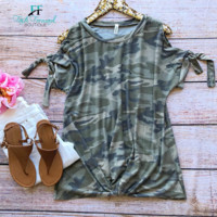 Camo Princess Top