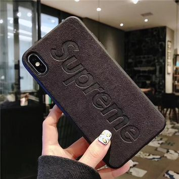 SUPREME Black Cover Case for iPhone 6 7 8 PLUS XSMAX XR
