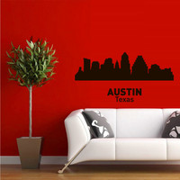 Wall Vinyl Sticker Decals Decor Art Bedroom Design Mural Words Sign Town City Skyline Austin Texas (z3054)