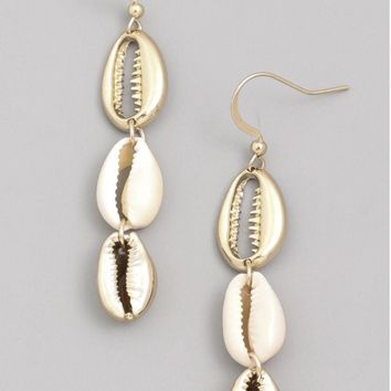 Cowrie Shell Dangle Earring