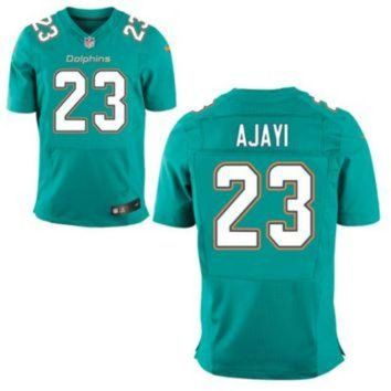 VLX9RV Men's Miami Dolphins #23 Jay Ajayi Aqua Green Stitched Nike NFL Home Elite Jersey
