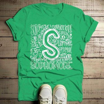Men's Sophomore T Shirt Class Tee Typography Back To School School Gift Idea Shirts Cool Sophomores