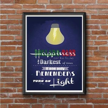 Harry Potter Happiness Quote Photo Poster