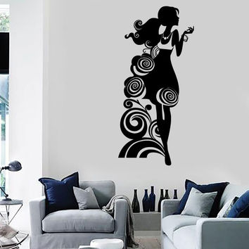 Wall Stickers Vinyl Decal Silhouette Beautiful Girl Fashion Style Shop (ig1812)