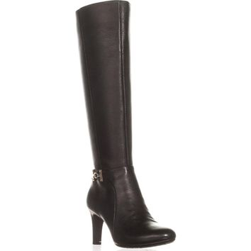 Bandolino Lamari Knee-High Fashion Boots, Black Leather, 5 US