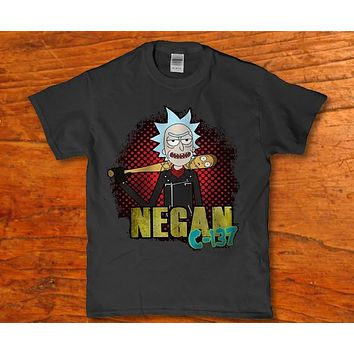 Negan c-137 Rick Morty Lucille Men's adult funny t-shirt
