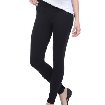 Lysse Cotton Tight Ankle Legging - Black