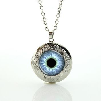 Dragon Cat Eye Pendant Necklace vintage Reptile Eye Game of thrones locket Necklaces punk gears Camera Lens picture jewelry N602