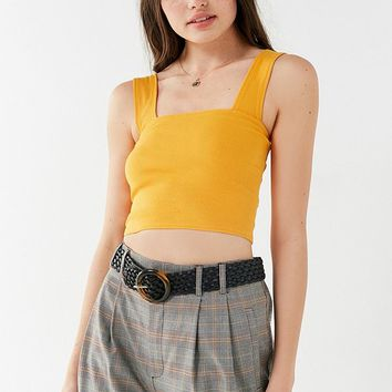 UO Side Lines Square Neck Tank Top | Urban Outfitters