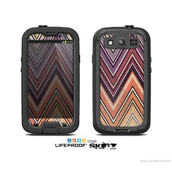 The Vintage Colored V3 Chevron Pattern Skin For The Samsung Galaxy S3 LifeProof Case